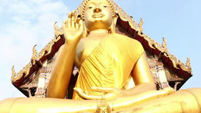 Giant Buddha, is a sacred right to be respected stock video