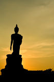 Giant buddha statue. Big buddha statue located at buddhist park, Buddha Monthon, Thailand Stock Images