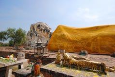Reclining Buddha in Ayutthaya, Thailand Stock Photo