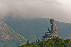 Giant Buddha Statue In Lantau Island, Hong Kong Stock Images