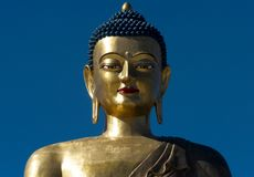 Giant Buddha statue. Giant 51 meter tall bronze Buddha statue in Thimphu, capital of Bhutan Royalty Free Stock Photos