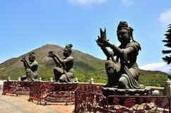 Giant Buddha Statue at Po Lin Monastery Stock Image
