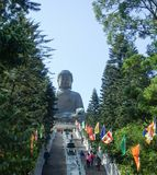 Giant Buddha Statue at Po Lin Monastery stock images