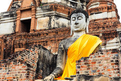 Giant buddha statue in temple Royalty Free Stock Photography