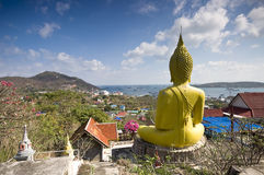 Giant Buddha statue in Thailand Royalty Free Stock Photos