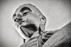 Giant Buddha Statue Thailand, Black and White Royalty Free Stock Photography