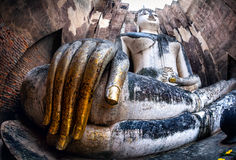 Giant Buddha statue in Thailand Royalty Free Stock Photo