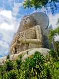 Giant Buddha statue under construction stock photography