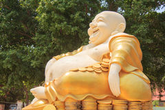 Giant Buddha statue, Wat Kok Mai Daeng, Phitsanulok Province, Th royalty free stock photos