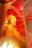 Giant Buddha statue of Wat Phananchoeng in Ayutthaya Stock Photography