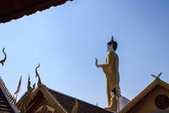 Giant Buddha statue in Wat Prathat Lampang Luang temple. Royalty Free Stock Images
