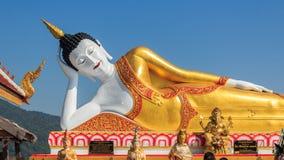 Giant Buddha statue in Wat Prathat Lampang Luang temple. Royalty Free Stock Photos