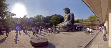 Giant Buddha of temple  in Japan. Stock Image