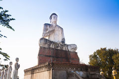 The giant Buddha in Wat Ek Phnom  temple near the Battambang cit Royalty Free Stock Photo