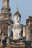 """Giant Buddha at Wat Mahathat in Sukhothai, Thailand. Wat Mahathat translates as """"great relic"""", and it is one of the oldest and most important Buddhist Stock Photos"""