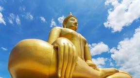 Giant buddha of Wat Muang Stock Image