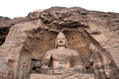Giant Buddha at the Yungang Grottoes, Shanxi Royalty Free Stock Image