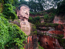 Giant Budha. The largest Budha in the world (Leshan, Sichuan, China Stock Image