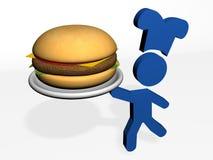 Giant burger Stock Photos