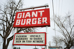 Giant Burger Restaurant Springfield Oregon Royalty Free Stock Photography