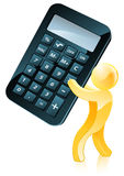 Giant calculator person Stock Images