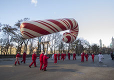 Giant candy cane balloon in 2013 Macy's Parade Royalty Free Stock Photo