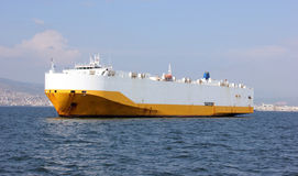 Giant cargo ship in sea Stock Photo