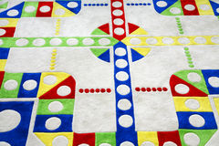 Giant carpet ludo. With bright colors Stock Photos