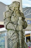 Giant carved stone dwarf from set Lord Rings at Auckland Airport Stock Photo