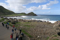 Giant causeway in north ireland. The Giant's Causeway is an area of about 40,000 interlocking basalt columns, the result of an ancient volcanic eruption. It is royalty free stock images