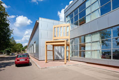 Giant chair near the factory Borovichy-Furniture Stock Images