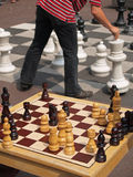 Giant chess. In Leidsplein, Amsterdam Royalty Free Stock Photos