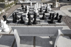 Giant chess game Stock Photos