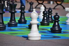Giant chess game Royalty Free Stock Image