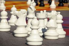 Giant chess game Stock Image