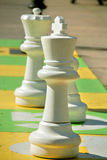 Giant chess game Stock Photo