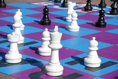 Giant chess game Stock Photography