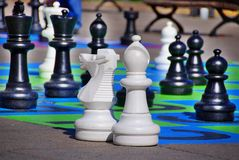 Giant chess game Royalty Free Stock Photo