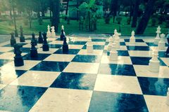 Giant chess. This huge chessboard stands in the center of Batumi Royalty Free Stock Photos