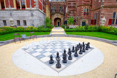 Giant chess library near Amsterdam Stock Photo