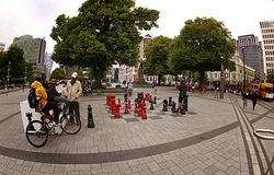 Giant Chess Pieces Christchurch Stock Image