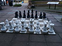 Free Giant Chess Set In Twickenham London Uk Royalty Free Stock Image - 111138706