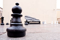 Giant chess set in Lithuania Stock Image