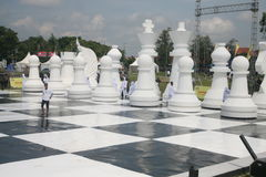 Giant chess Royalty Free Stock Photos