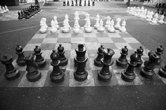 Giant Chessboards Stock Images