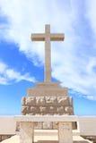 Giant Christian Cross and Altar. Royalty Free Stock Photos
