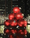 Giant Christmas Baubles Royalty Free Stock Photography