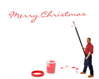 Giant Christmas Greetings Royalty Free Stock Images