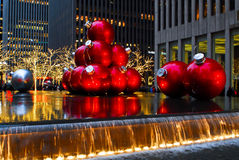 Giant Christmas Ornaments in Manhattan, NYC. Stock Photography