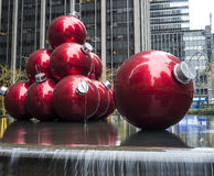 Giant Christmas Ornaments Royalty Free Stock Photography